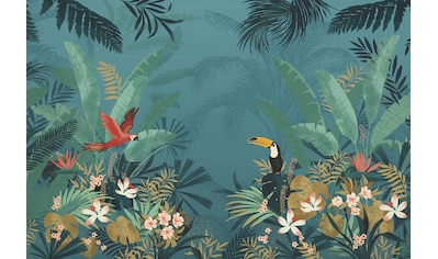 Komar Fototapete »Enchanted Jungle«, bedruckt-floral-tropisch kaufen