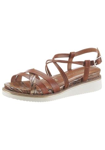 Tamaris Sandale »Eda«, mit feinen Riemchen kaufen