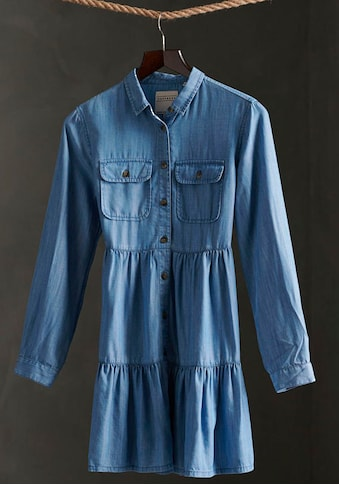 Superdry Jeanskleid »TIERED SHIRT DRESS«, mit ausgestelltem Volant kaufen