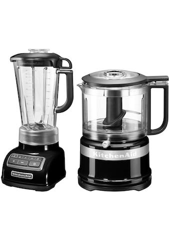 KitchenAid Standmixer »5KSB1585EOB und Mini Zerkleinerer 5KFC3516«, 550 W, Vorteilsset: Du sparst gegenüber Einzelkauf 62,90€ kaufen