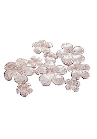 Wanddeko Blüten mit rosefarbenem Schimmer kaufen