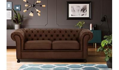 Home affaire 3-Sitzer »Chesterfield Home«, mit edler Knopfheftung und typischen Armlehnen kaufen