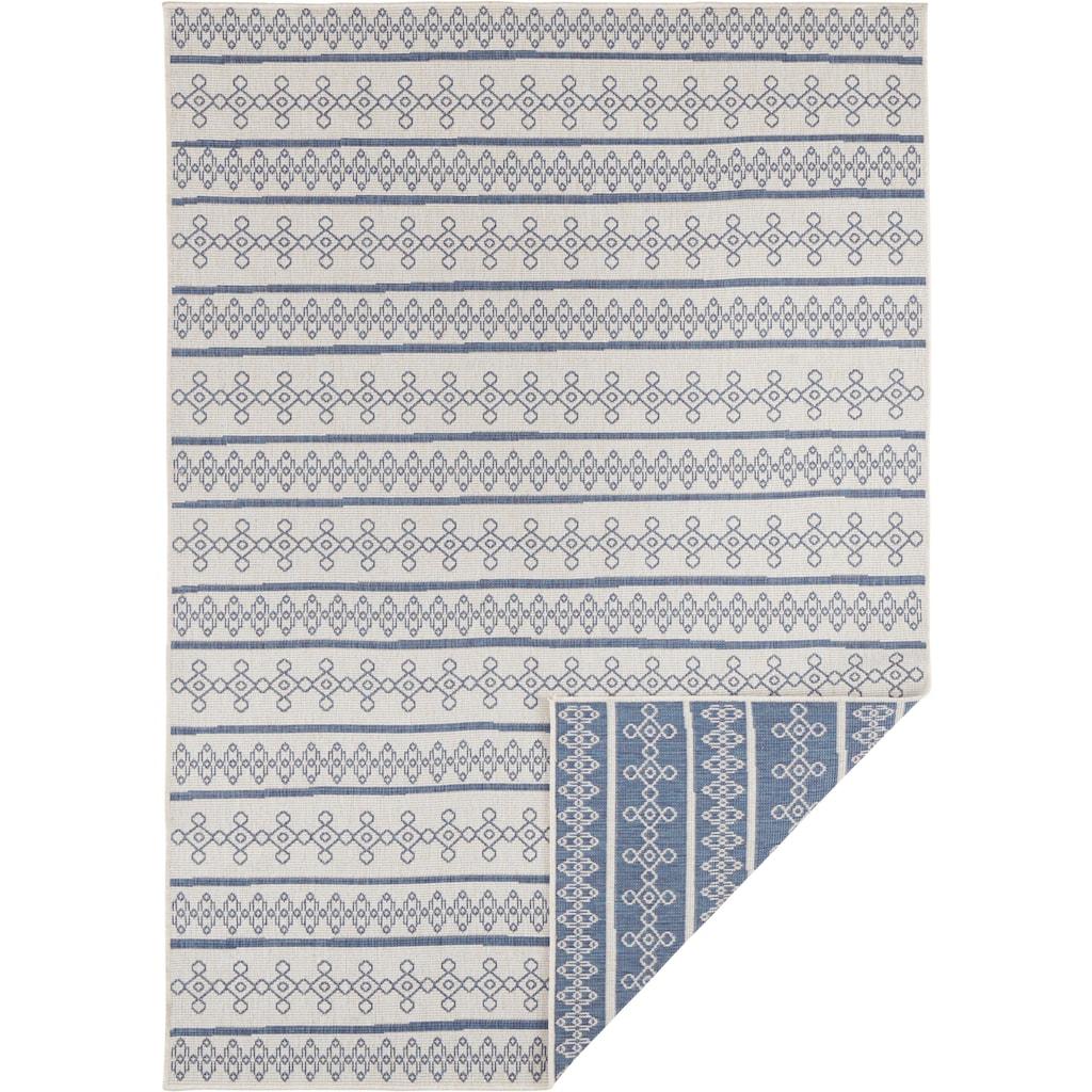 bougari Teppich »Madeira«, rechteckig, 15 mm Höhe, In- und Outdoor geeignet, Wendeteppich, Wohnzimmer