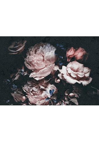 CONSALNET Vliestapete »Rosafarbige Blumen«, in verschiedenen Größen kaufen