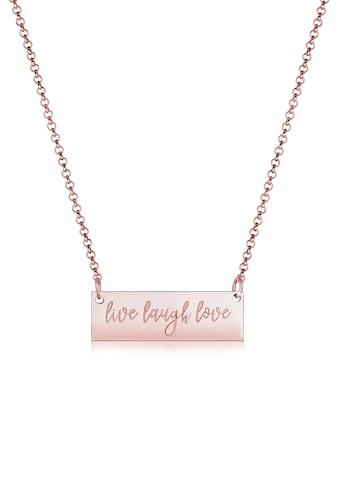 Elli Collierkettchen »Live Laugh Love Wording Anhänger Geo 925er Silber« kaufen