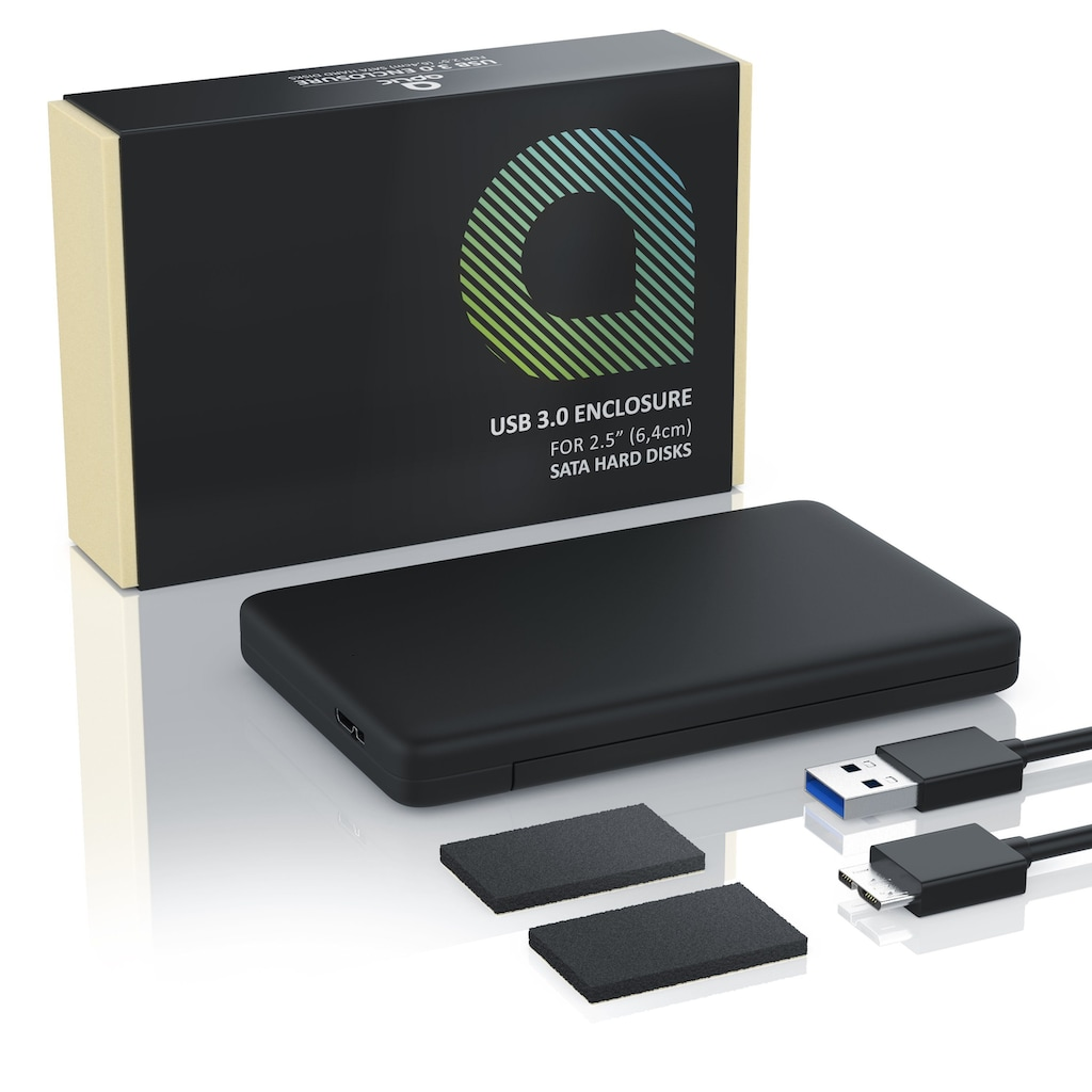 """Aplic externes USB 3.0 Festplatten Case mit schraubenloser Montage »für 2,5"""" HDD/SDD Festplatten«"""