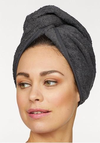 my home Turban-Handtuch »Juna«, (2 St.), mit Knopfverschluss am Hinterkopf (2 Stück) kaufen