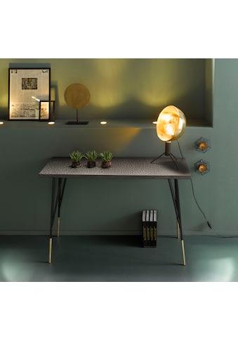INOSIGN Konsolentisch »Clinch«, aus schönen schwarzen Metallbeinen und goldfarbenen Endbeinen, Breite 120 cm kaufen