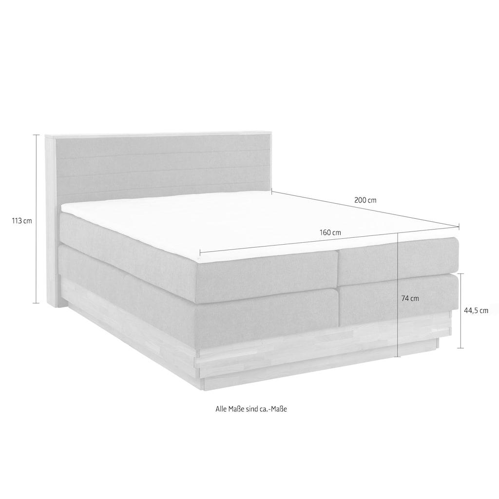 Home affaire Boxspringbett »Cavan«, aus massiver Eiche, inkl. Bettkasten & Topper, verschiedene Härtegrade (auch H4)