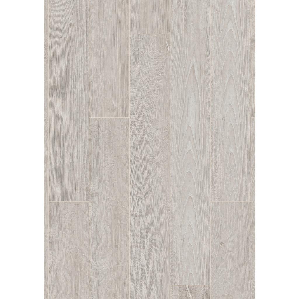 ter Hürne Laminat »Eiche weißgrau«, mit fühlbarer Oberfläche und Klicksystem