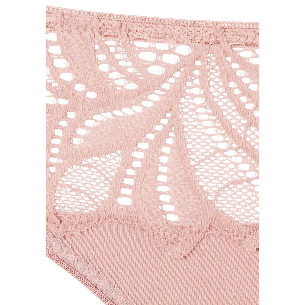 Vivance Bikinislip, mit floraler Spitze vorn