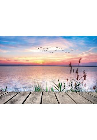 Home affaire Leinwandbild »Kesipun: Der See in den Farben der Wolken«, 100/70 cm kaufen