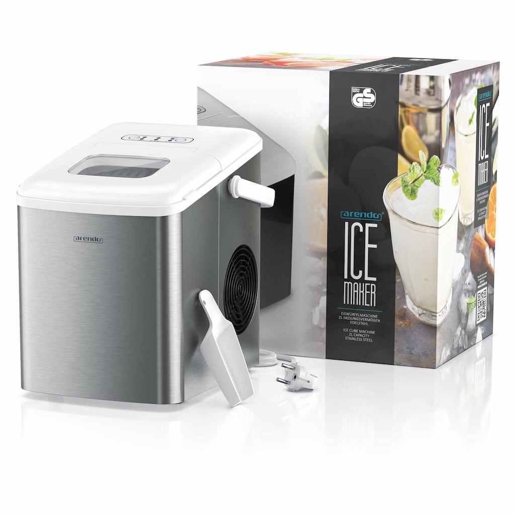 Arendo Eiswürfelmaschine »Eiswürfelbereiter - 9 Eiswürfel in 9 Minuten«