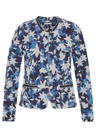 Rabe Kurzjacke, mit floralem Muster und Reißverschluss kaufen