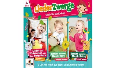 Musik-CD »01/3er Box LiederZwerge (Pekip,Musik-Kurs Vol.1 & / Lena,Felix & die Kita-Kids« kaufen