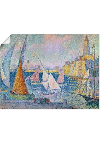Artland Wandbild »Der Hafen von St. Tropez. 1899«, Boote & Schiffe, (1 St.), in vielen... kaufen