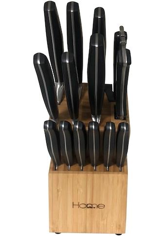 Home affaire Messerblock, 15 tlg., mit integriertem Messerschärfer kaufen