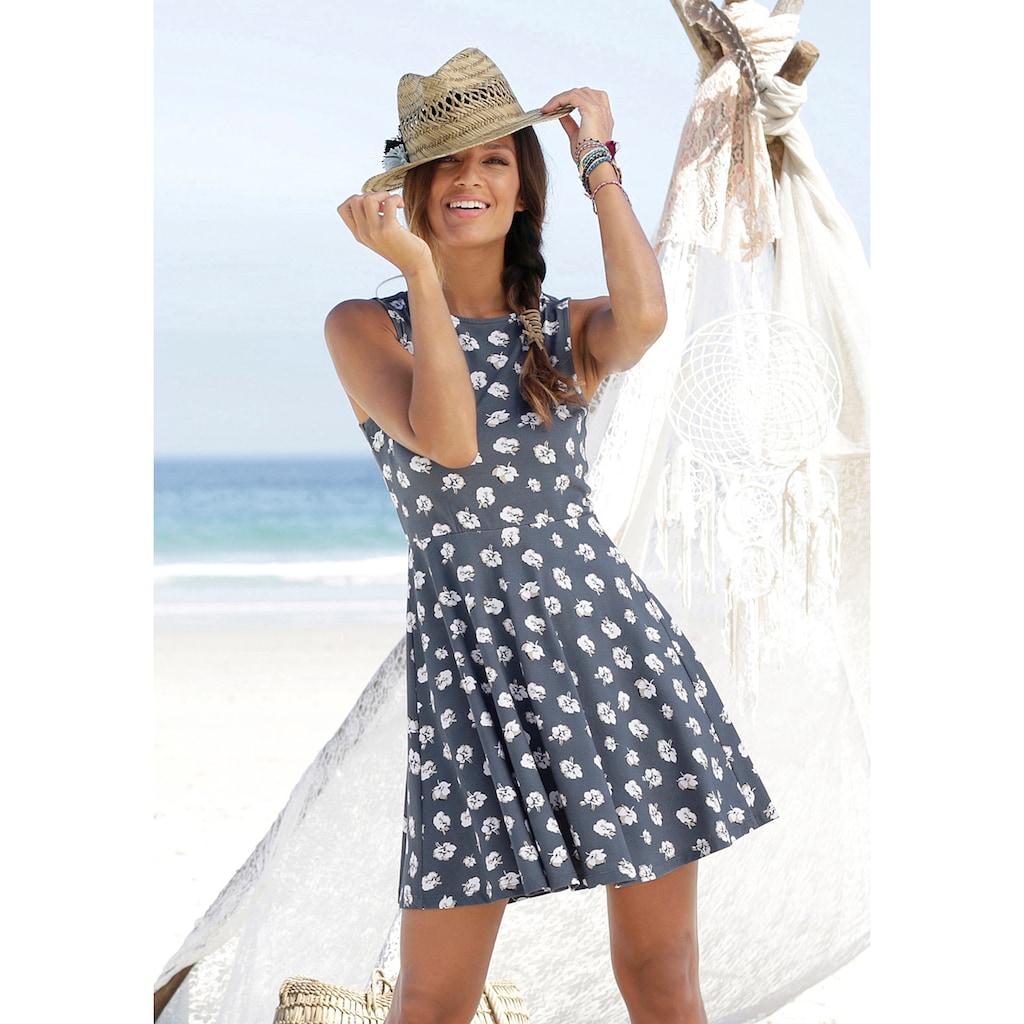 Beachtime Strandkleid, mit Blumendruck