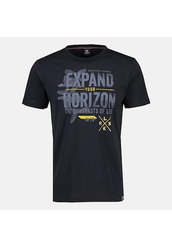 LERROS T-Shirt »Expand your horizon«, mit Brustprint, in Großen Größen kaufen