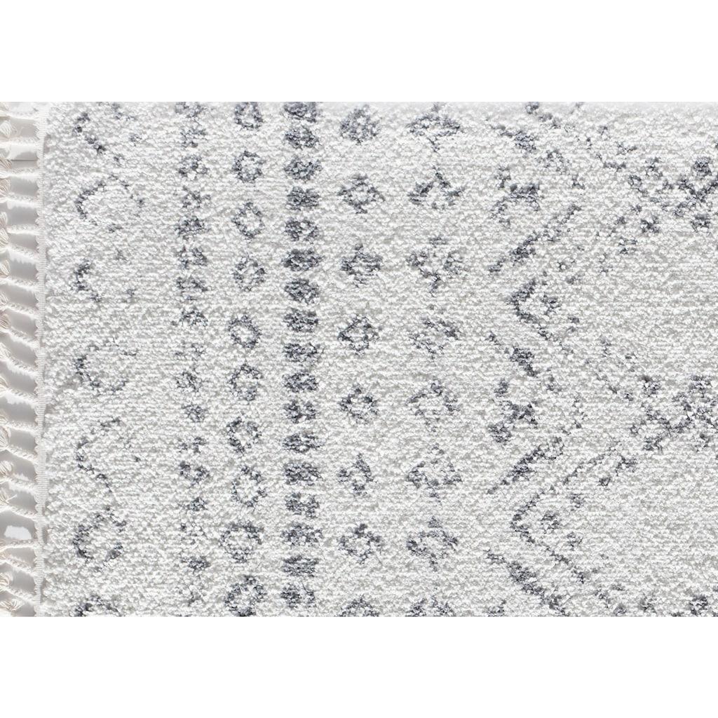 CosmoLiving by Cosmopolitan Teppich »Mason Shag«, rechteckig, 22 mm Höhe, mit Fransen, Wohnzimmer