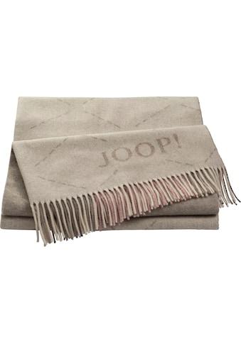 Joop! Plaid »SENSUAL-SIGNATURE«, aus edlem Wolle-Kaschmir-Mix mit geometrischem Rautenmuster kaufen