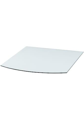 Heathus Bodenschutzplatte, Segmentbogen, 80 x 100 cm, transparent, zum Funkenschutz kaufen