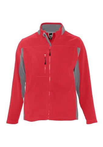 SOLS Fleecejacke »Herren Nordic Fleece-Jacke, Kontrastfarben« kaufen
