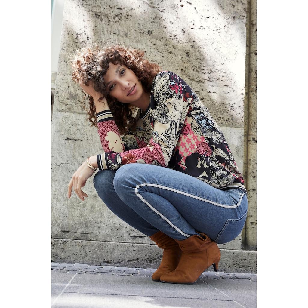 Aniston SELECTED Shirtbluse, mit modisch, glitzernden Tapes