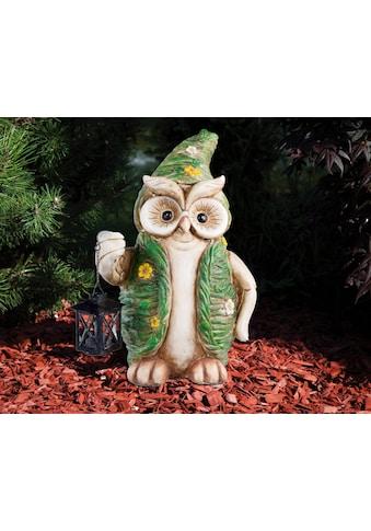 HGD Holz - Glas - Design XL - Eule - Frühlingsedition aus Keramik mit Metall - Laterne kaufen