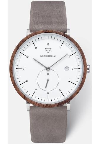 KERBHOLZ Quarzuhr »Anton Walnut Grey« kaufen