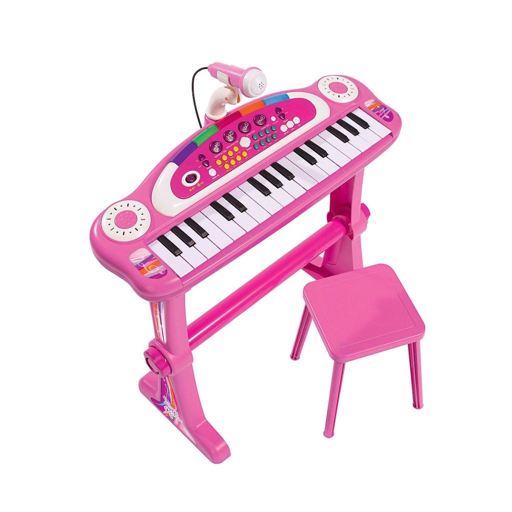 SIMBA Spielzeug-Musikinstrument »Keyboard mit Stuhl, pink«