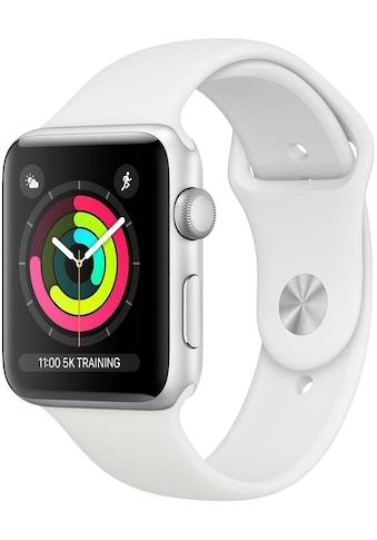 Apple Watch »Series 3 GPS, 38 mm Aluminium-Gehäuse mit Sportarmband«, (Watch OS 5) kaufen
