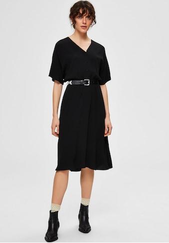 SELECTED FEMME Blusenkleid »SLFVIENNA«, mit Taillenband in Midilänge kaufen