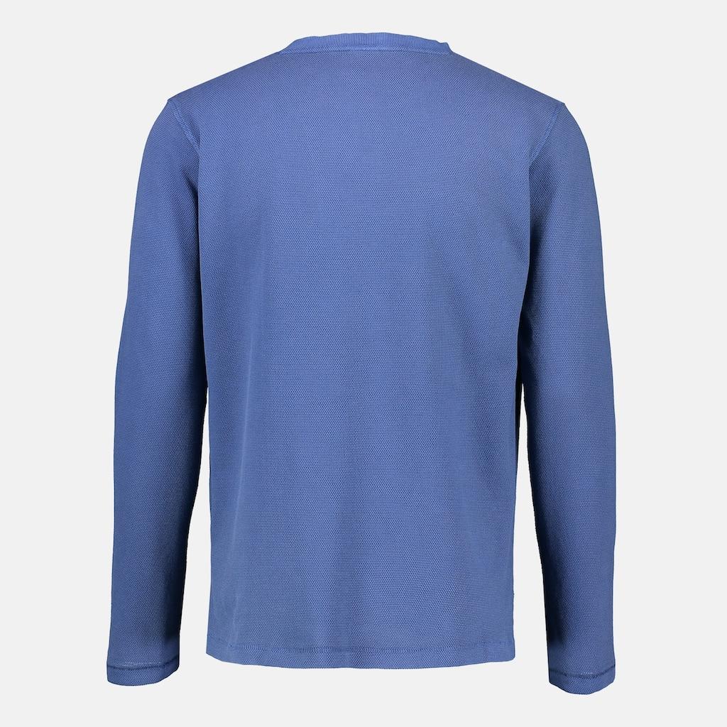 LERROS Sweatshirt »Serafino«, in Großen Größen, mit Knopfleiste