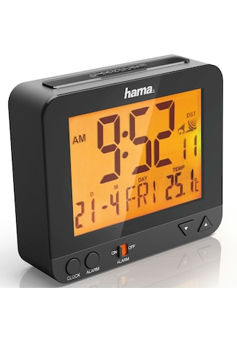 Hama Funkwecker RC 550, Nachtlicht Sensor, Thermometer, Schwarz »digitaler Funk Reisewecker« kaufen
