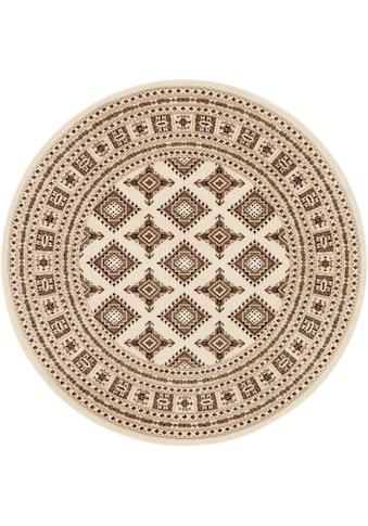 NOURISTAN Teppich »Sao Buchara«, rund, 9 mm Höhe, Kurzflor, Orient-Optik, Wohnzimmer kaufen