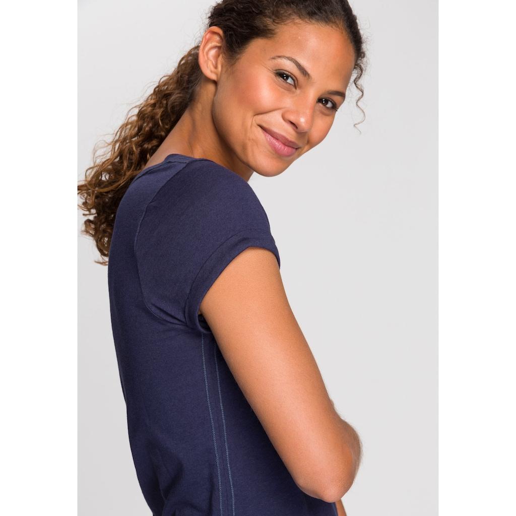 KangaROOS T-Shirt, mit süßem aufgekrempleten Ärmalsaum