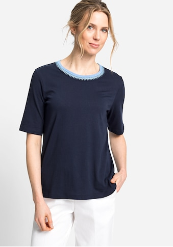 Olsen Rundhalsshirt, mit raffinierter Häkelborte kaufen