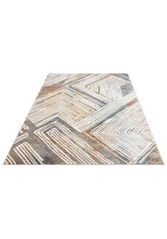 andas Teppich »Jeras«, rechteckig, 10 mm Höhe, modernes Design, Wohnzimmer kaufen