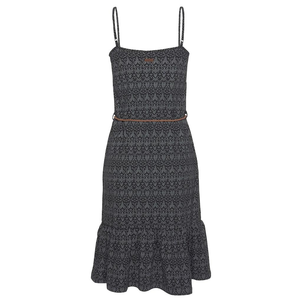 Ragwear A-Linien-Kleid »ENTIE«, (2 tlg., mit abnehmbarem Gürtel), mit romantischem Volant-Abschluss