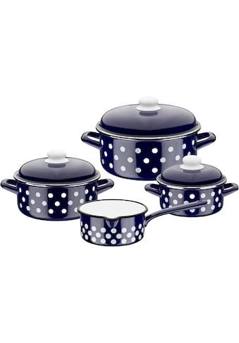 GSW Topf-Set, Stahl-Emaille, (Set, 7 tlg.), inkl. Literskala, Induktion kaufen