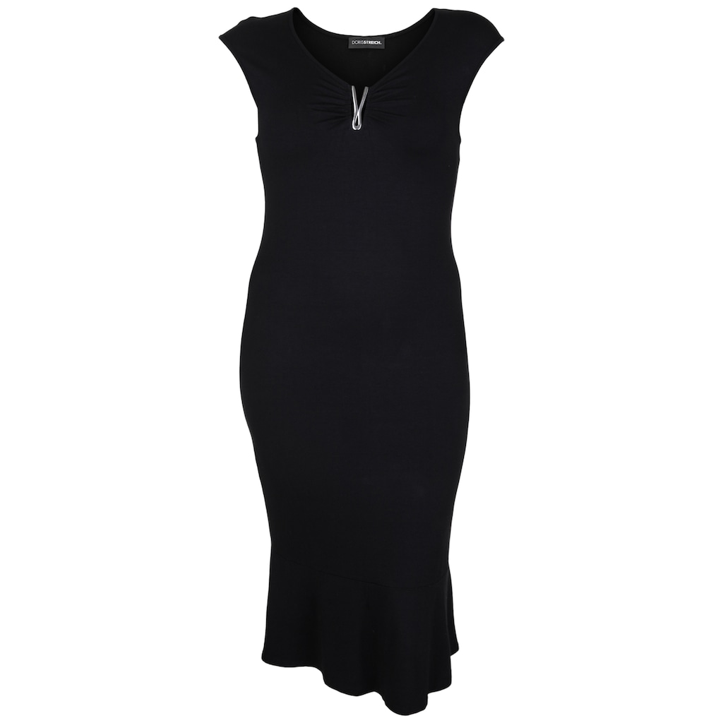 Doris Streich Jerseykleid »mit verspieltem Ausschnitt«