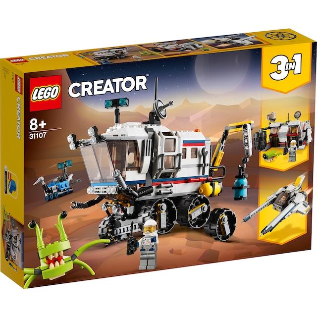 """LEGO® Konstruktionsspielsteine """"Planeten Erkundungs-Rover (31107), LEGO® Creator"""", Kunststoff, (510-tlg.)"""