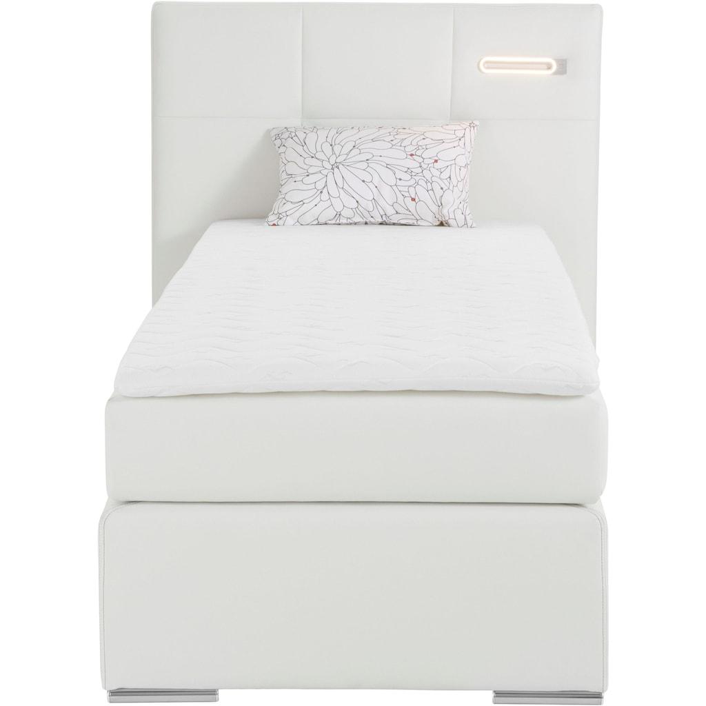 COLLECTION AB Boxspringbett »Dormante«, inkl. LED-Beleuchtung, Topper und Kissen