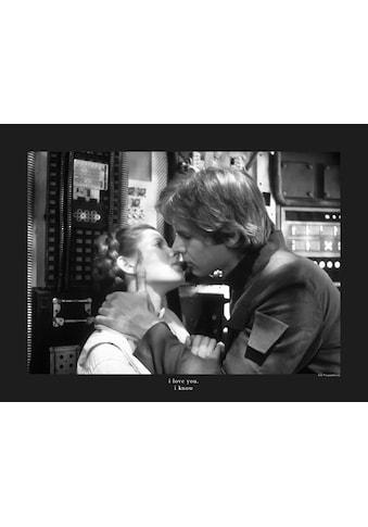 Komar Poster »Star Wars Classic Leia Han Kiss Quote«, Star Wars kaufen