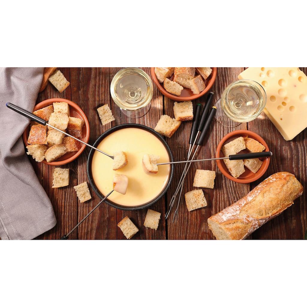 Tefal Raclette »RE12C8 Fondue Cheese 'n Co«, 6 St. Raclettepfännchen, 850 W, Elektrischer Raclette-Grill + Fondue-Gerät; Für 6 Personen; Spülmaschinengeeignet