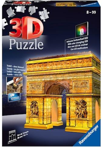 Ravensburger 3D-Puzzle »Triumphbogen bei Nacht«, mit Leuchtmodul inkl. LEDs; Made in Europe, FSC® - schützt Wald - weltweit kaufen