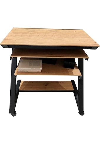 Maja Möbel Computertisch »Schreib- und Computertisch 1648«, Tastaturauszug, Druckerboden ausziehbar, 4 stabile Doppelrollen, 2 davon feststellbar kaufen