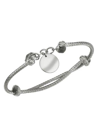 Firetti Armband mit Gravur »Gravur-Anhänger - mit persönlicher, kostenloser Gravur, hellgrau« kaufen