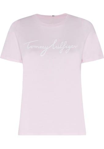 TOMMY HILFIGER Rundhalsshirt »CREW NECK GRAPHIC TEE« kaufen